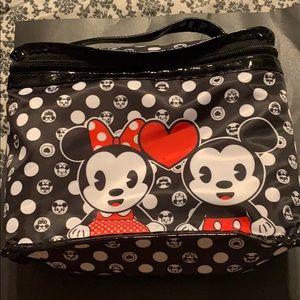 DISNEY Mickey& Minnie makeup storage bag Soho NWOT